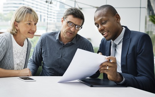 Investor working with Clients